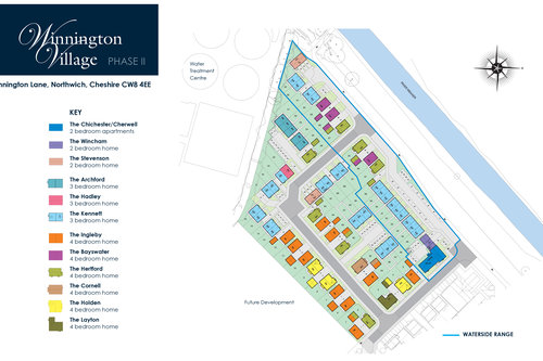 Winnington Village Site Map