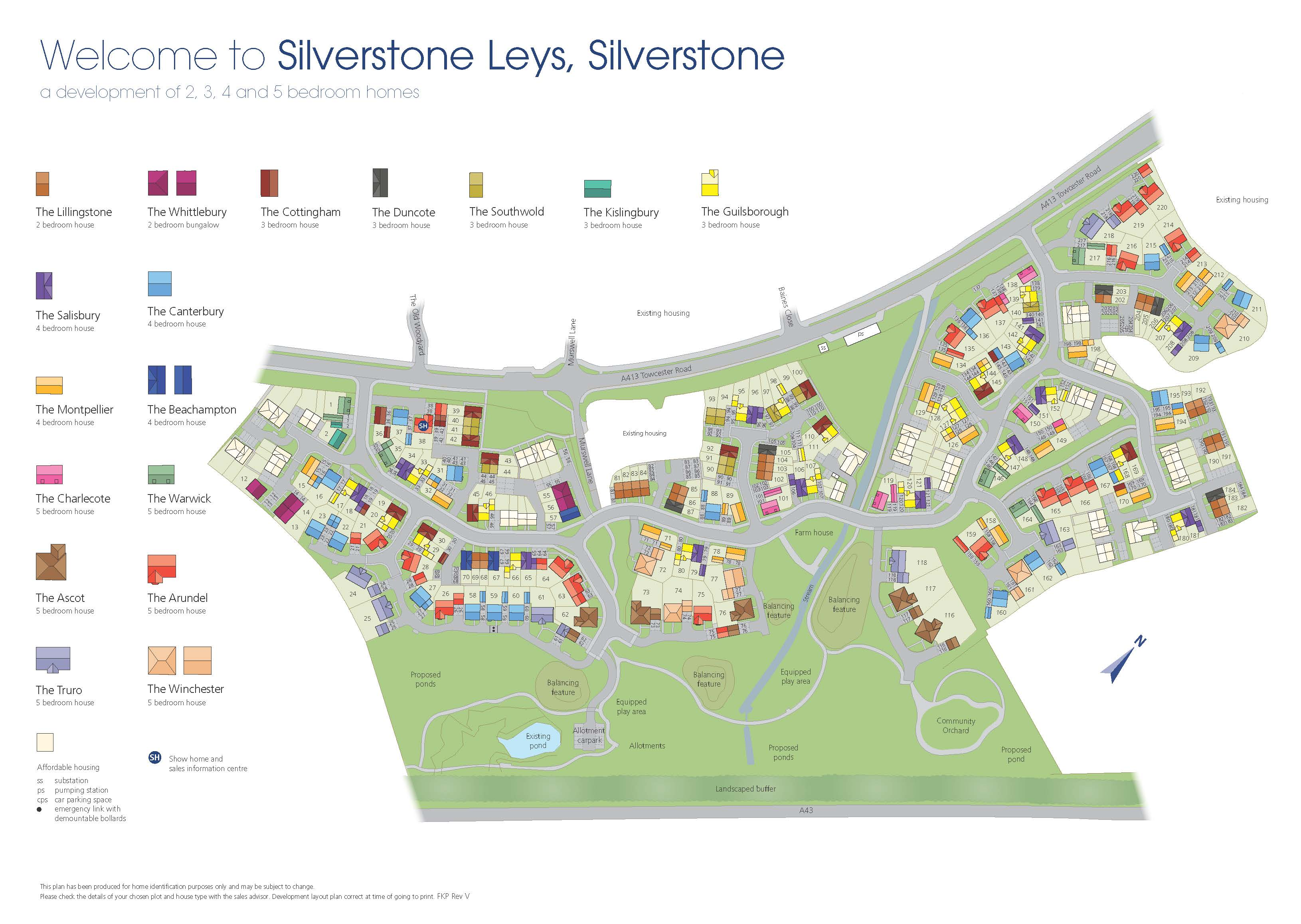 Silverstone Leys Site Map