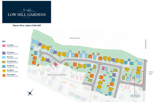 Low Hill Gardens Site Map