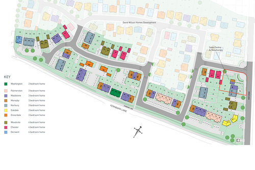 Fender Mews Site Map