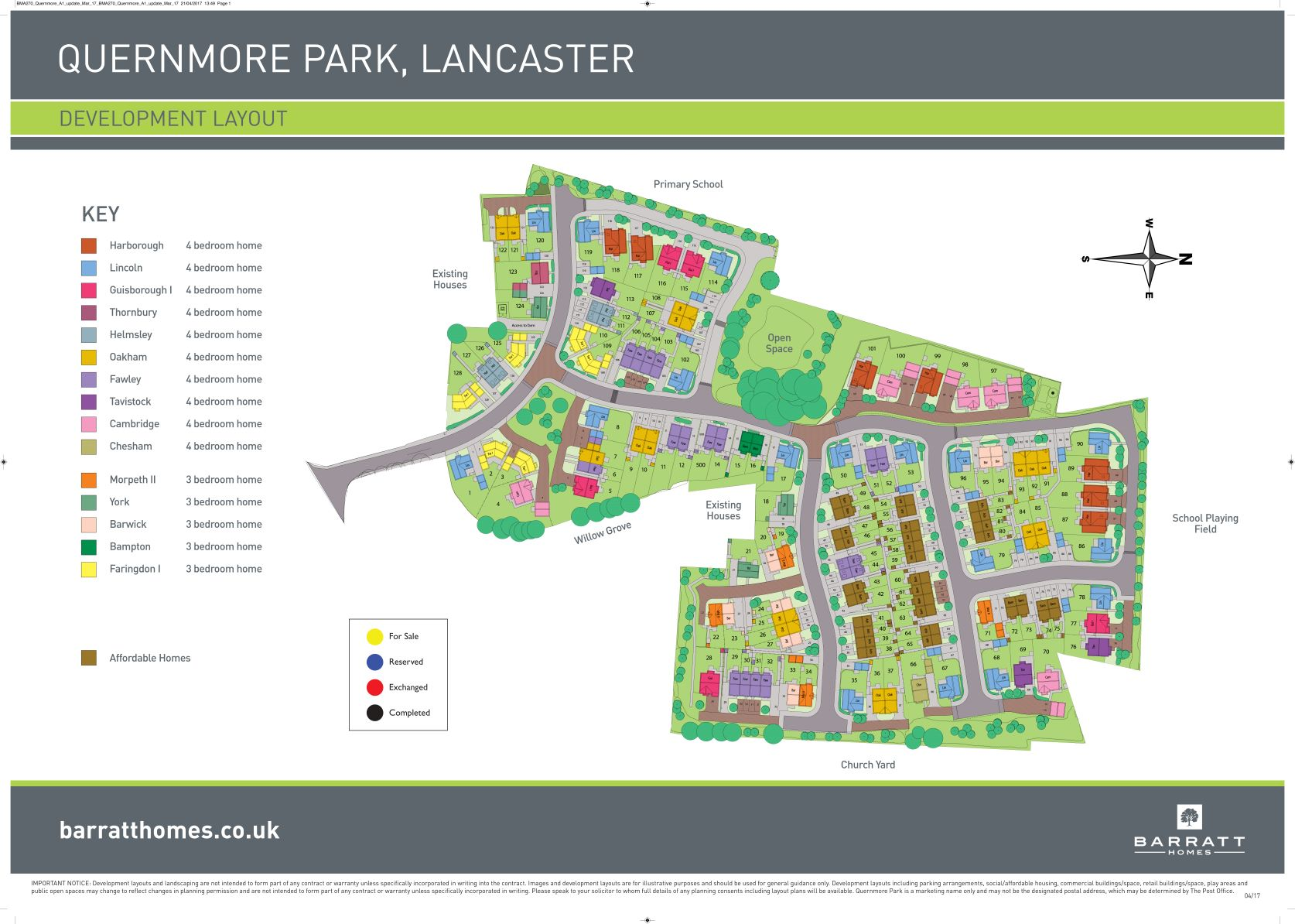 Quernmore Park Site Map