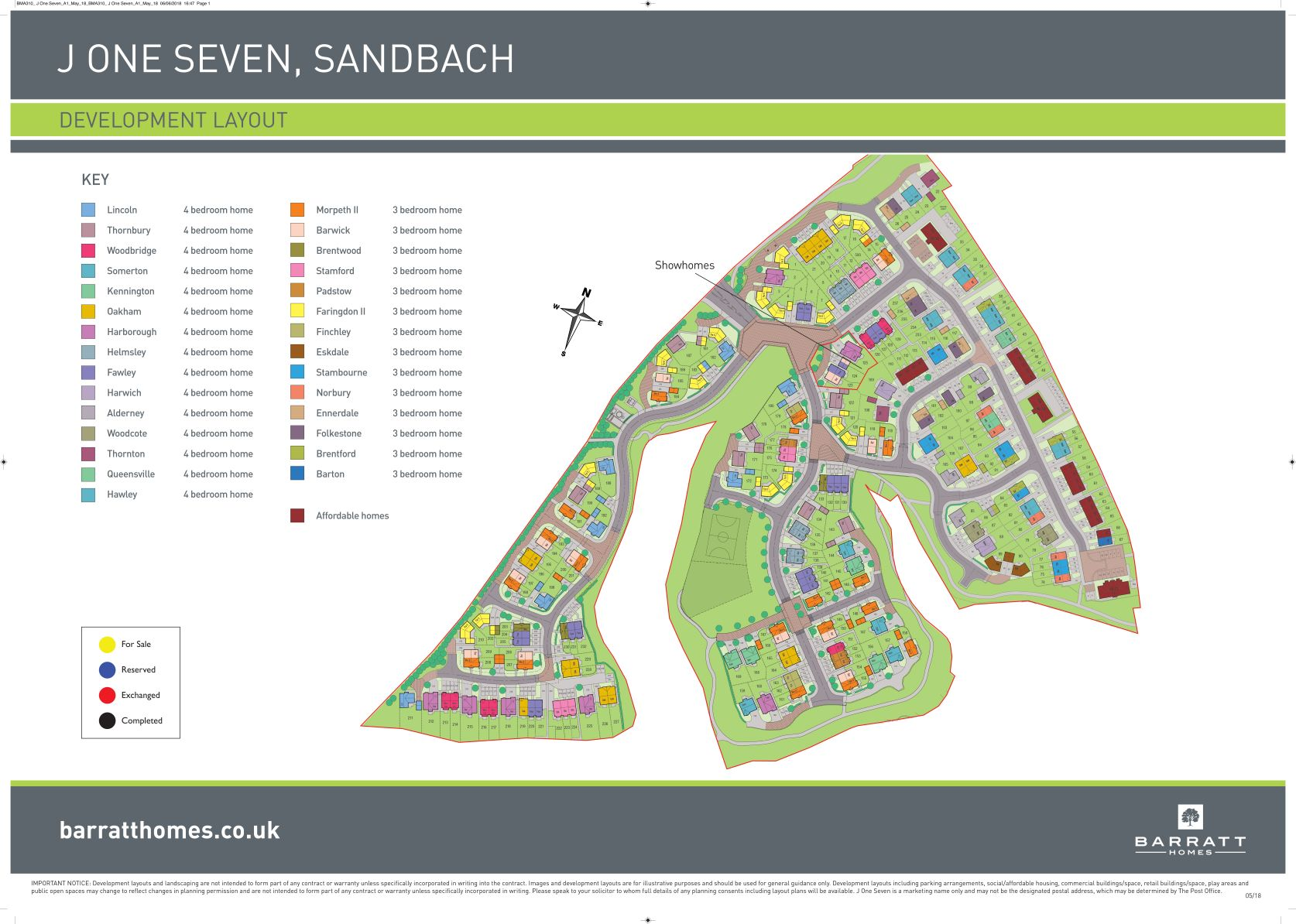 J One Seven Site Map