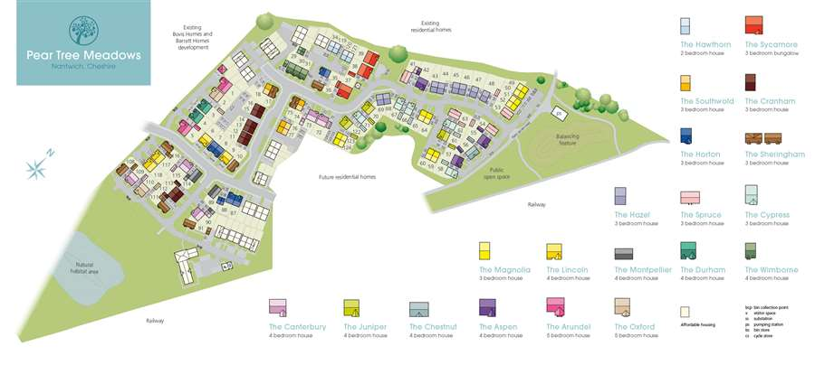 Pear Tree Meadows Site Map