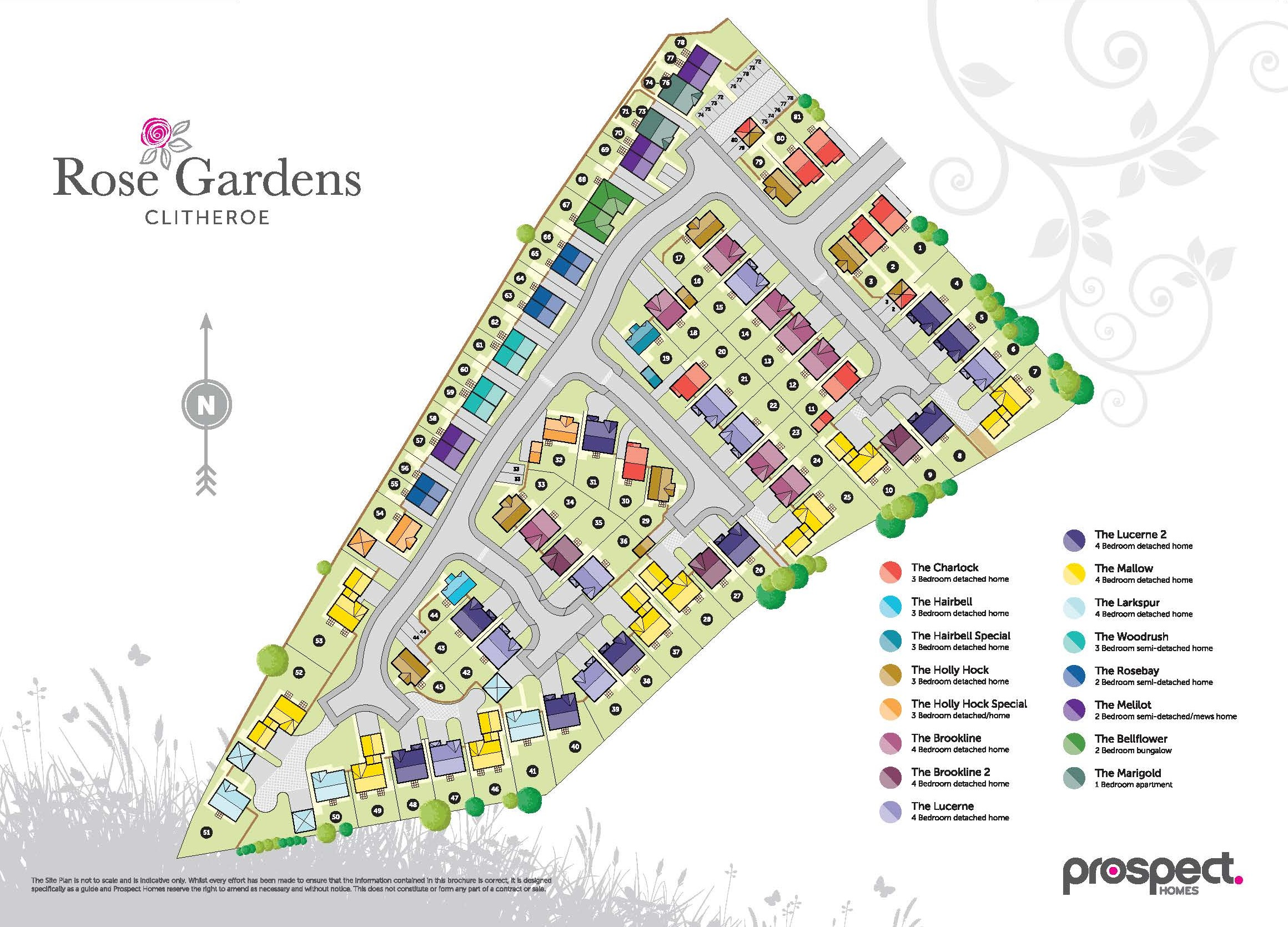 Rose Gardens Site Map
