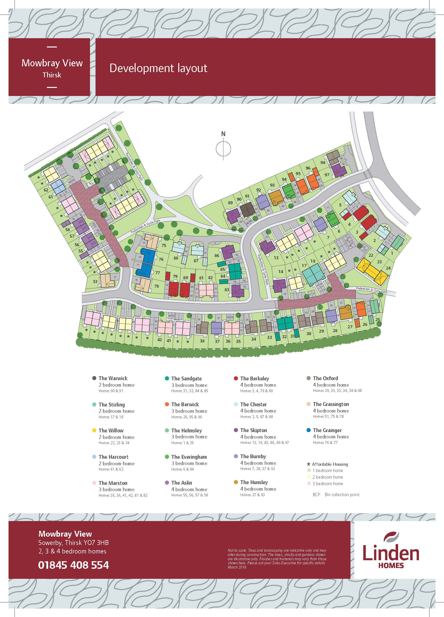 Mowbray View Site Map
