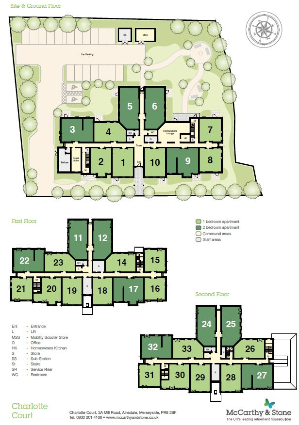 Charlotte Court Site Map