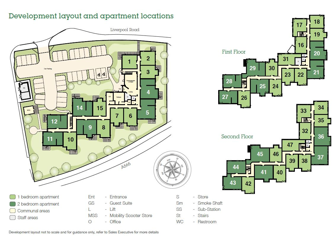 Grove Court Site Map