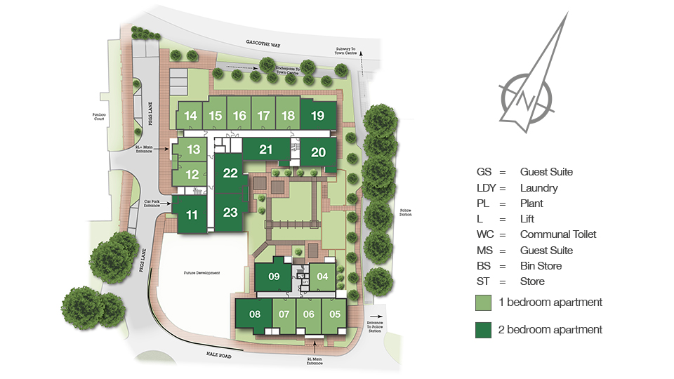 Isabella House Site Map