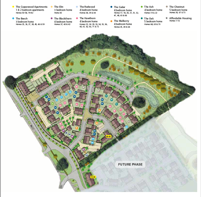 Copsewood Site Map