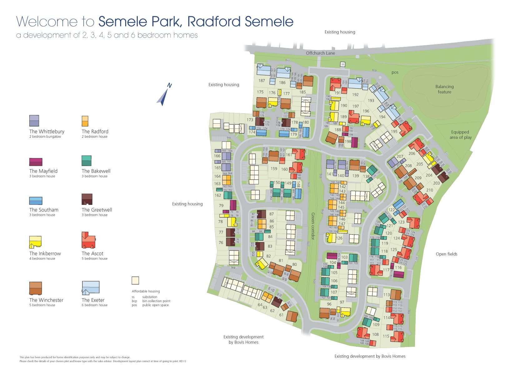 Semele Park Site Map