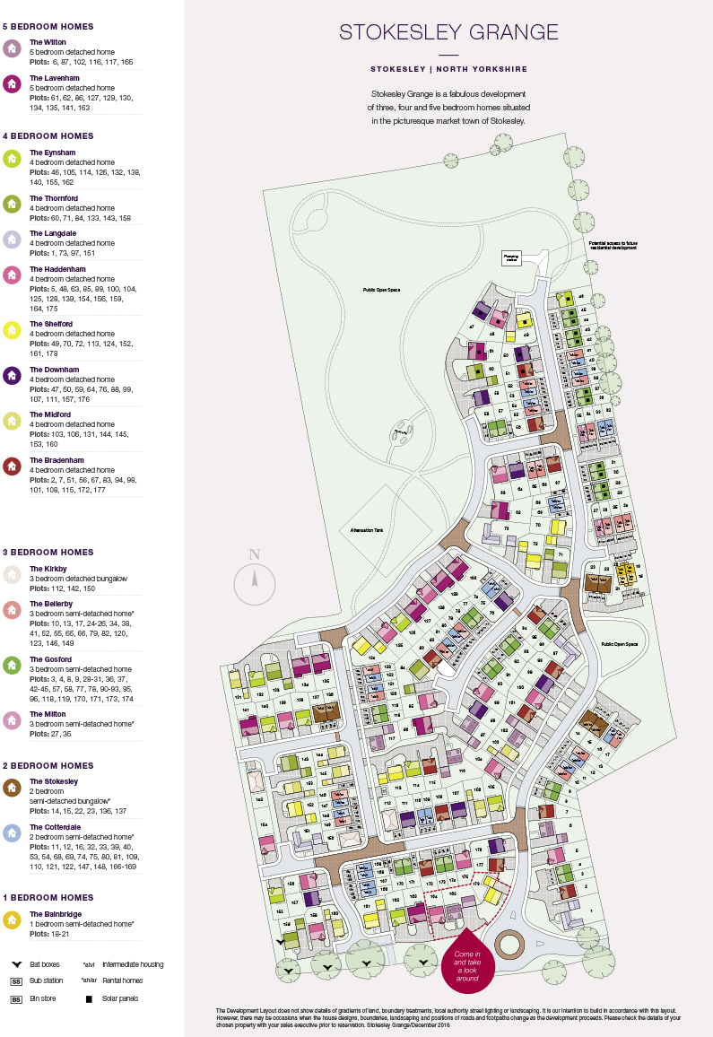 Stokesley Grange Site Map