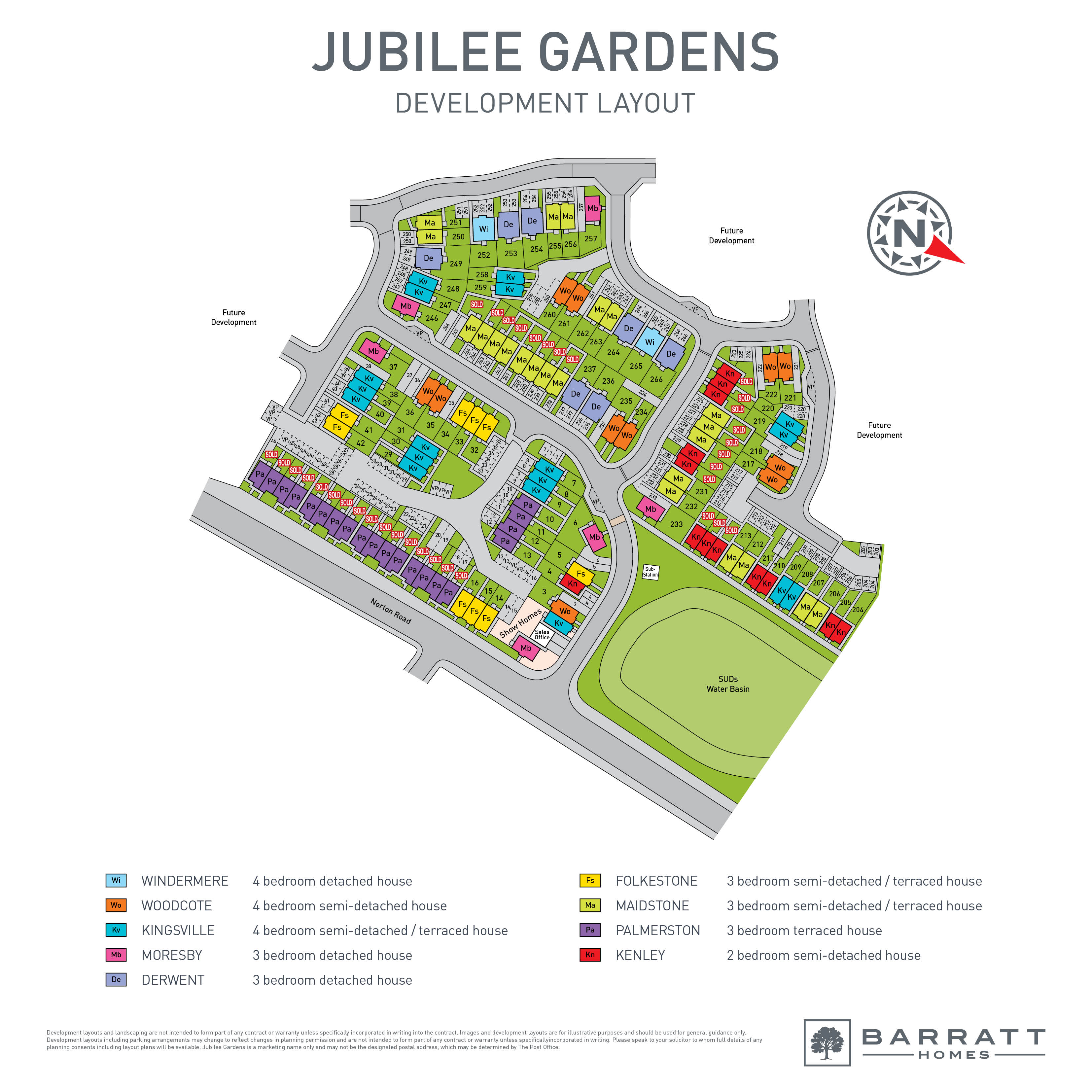 Jubilee Gardens Site Map