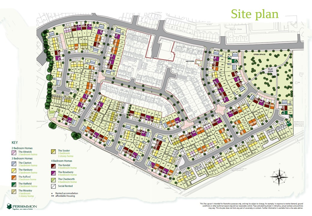The Willows Site Map