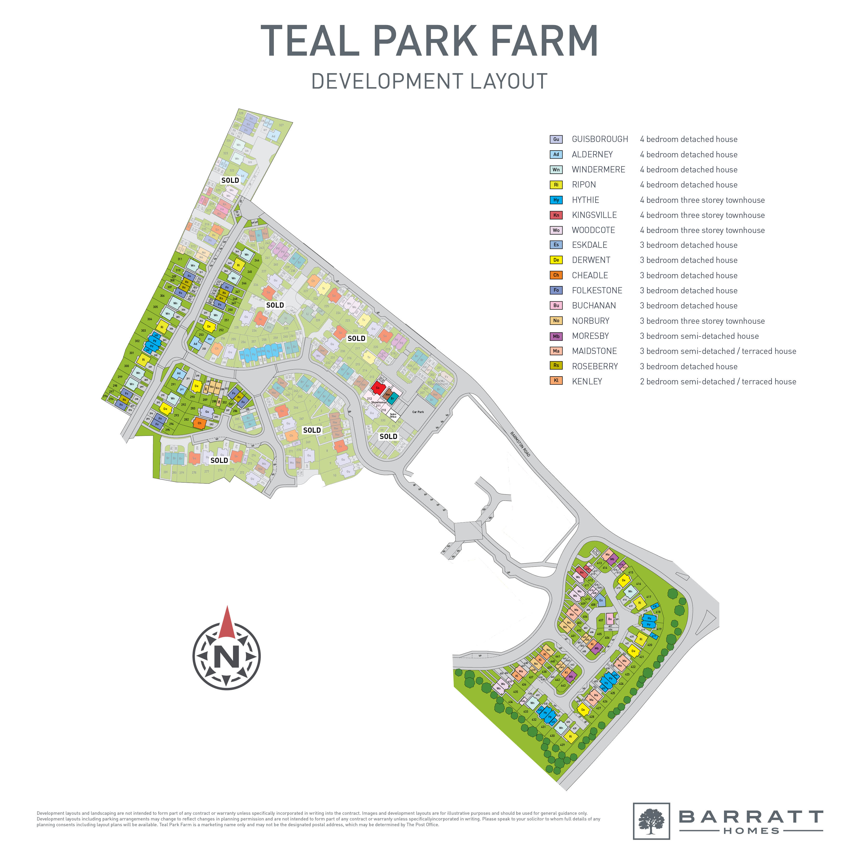 Teal Park Farm Site Map