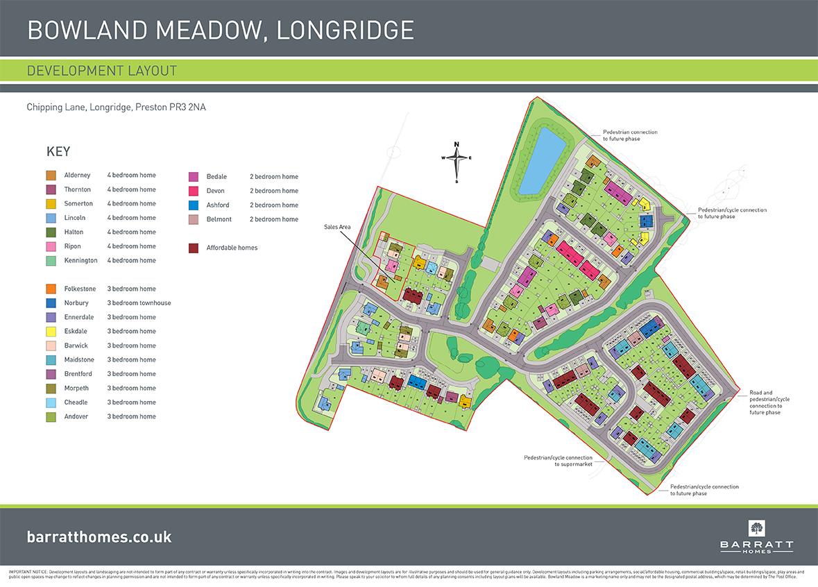 Bowland Meadows Site Map