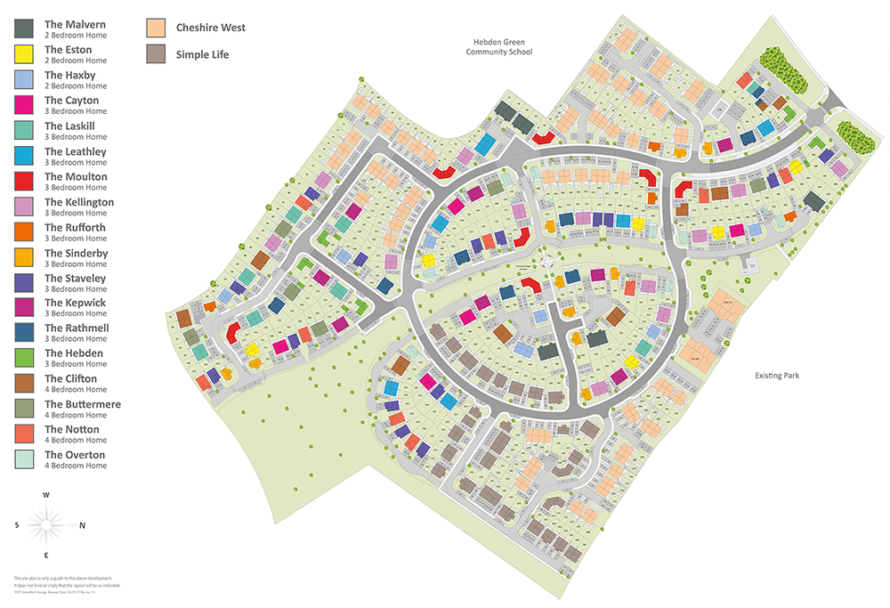 Woodford Grange Site Map