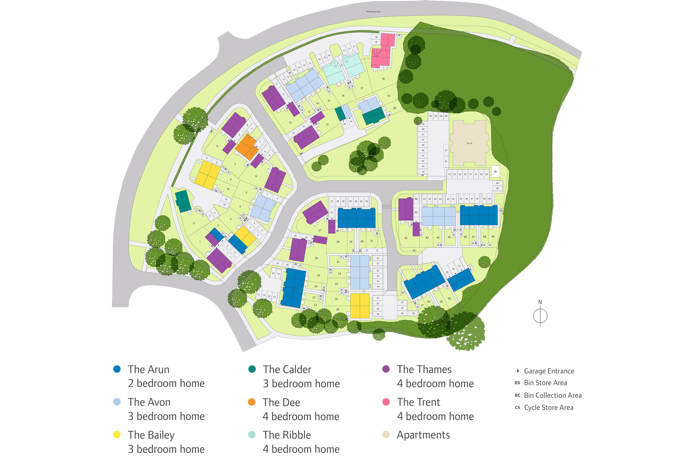 The Maltings Site Map