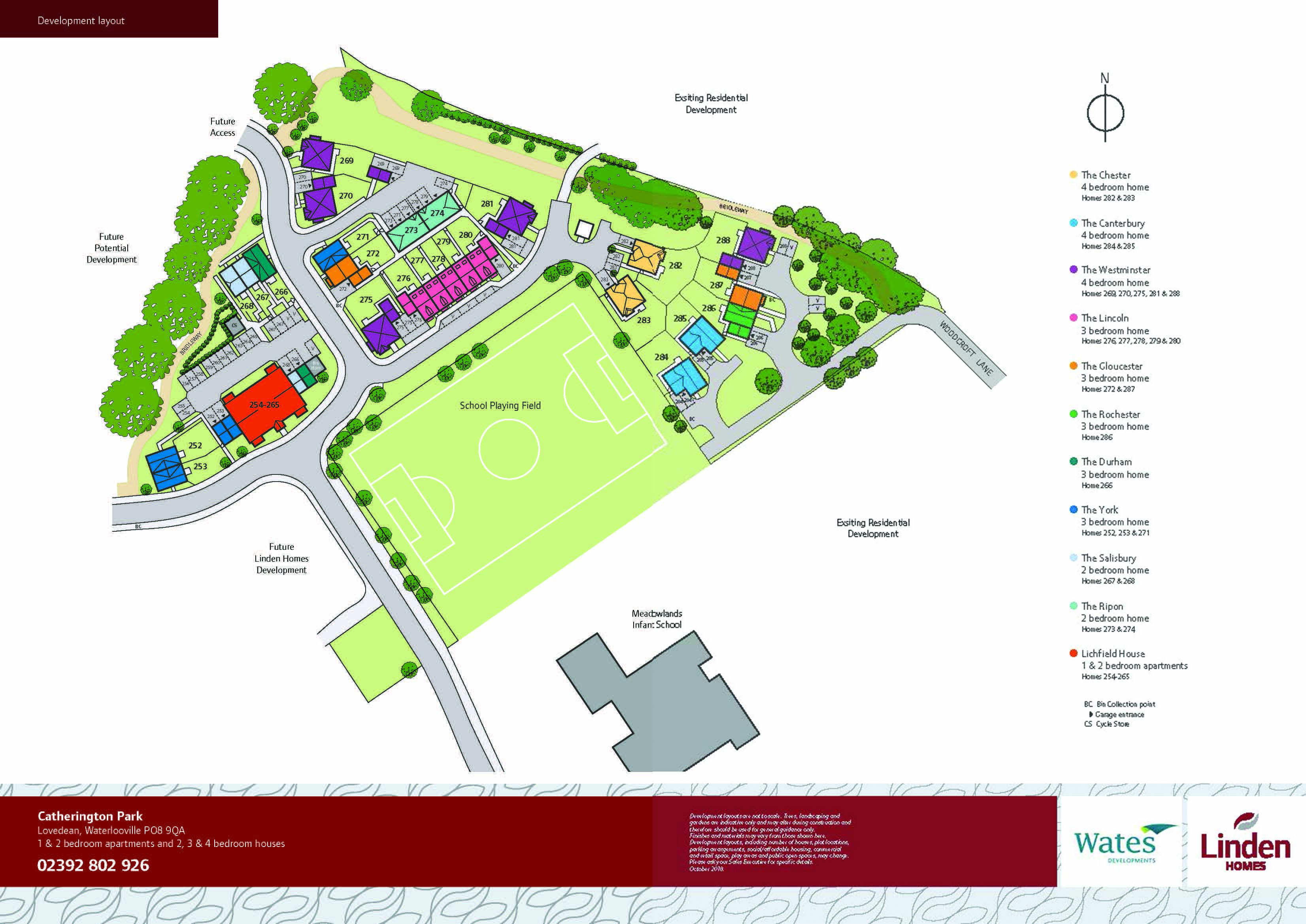 Catherington Park Site Map