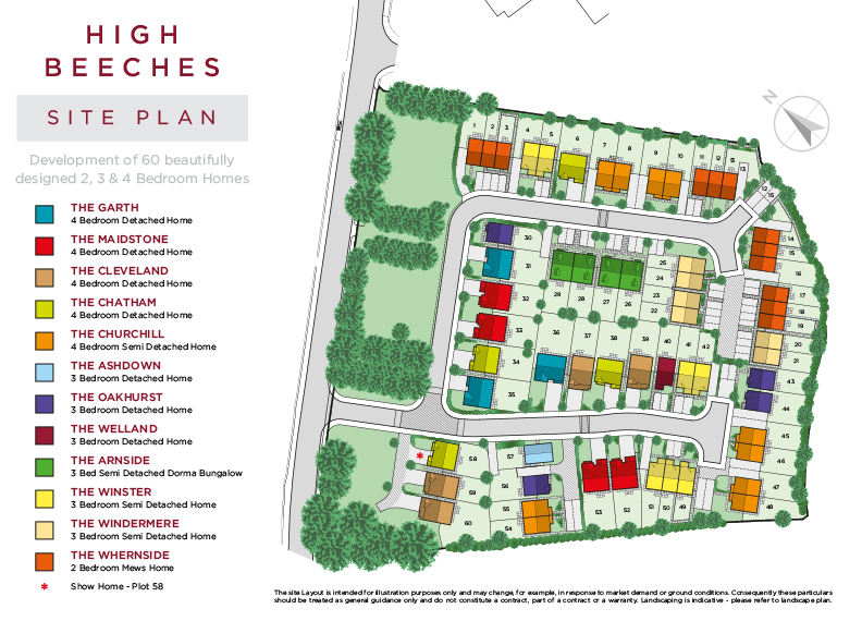 High Beeches Site Map
