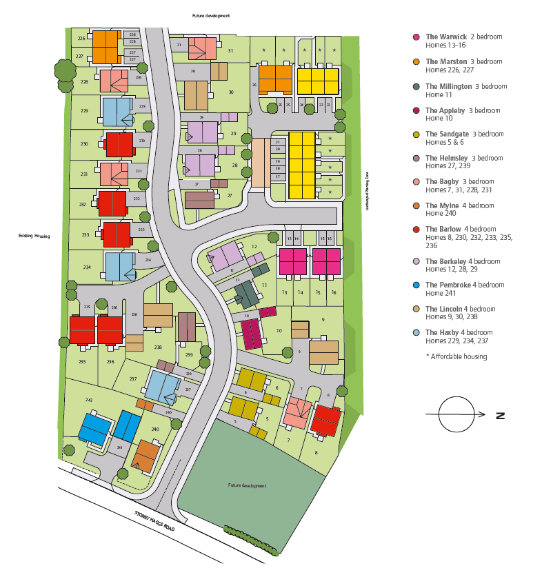 Northfield Meadows Site Map