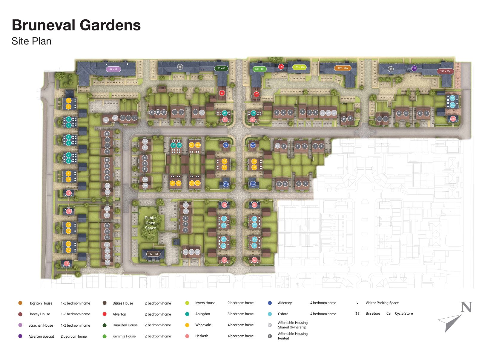 Bruneval Gardens Site Map