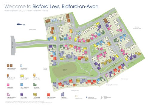 Bidford Leys Site Map