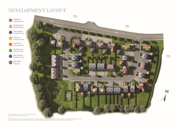 Bartestree Grange Site Map