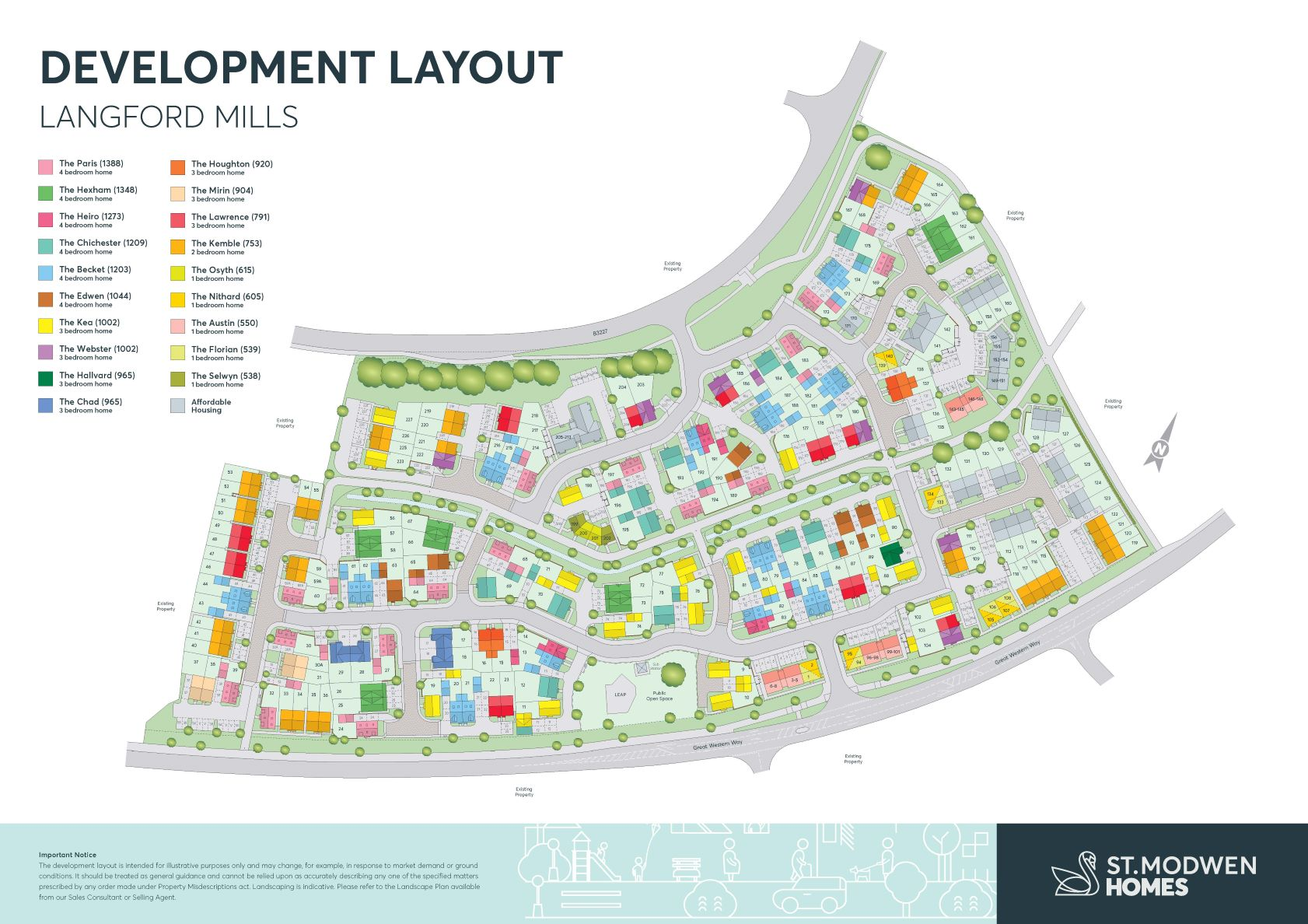 Langford Mills Site Map