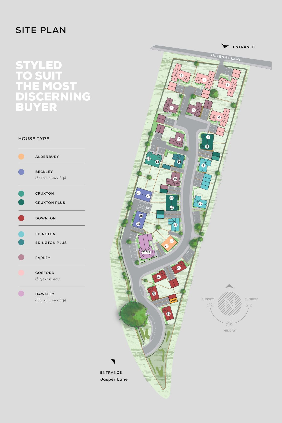 Linden Gardens Site Map