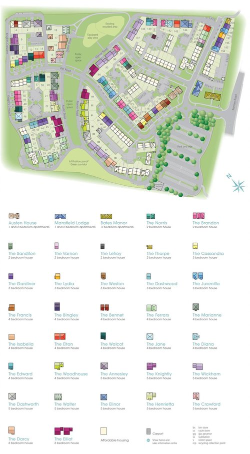 Winchester Village Site Map