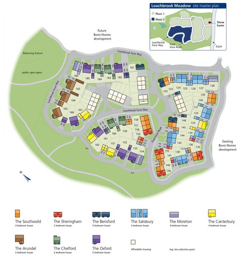 Loachbrooke Meadows Site Map