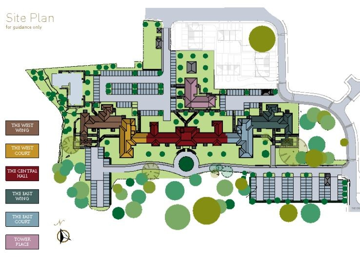 St Georges Mansions Site Map