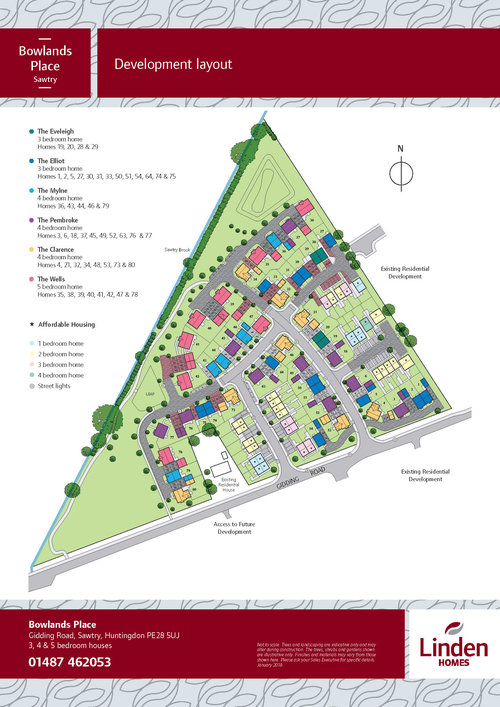 Bowland Place Site Map